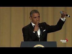 """Obama out:"" President Barack Obama's hilarious final White House correspondents' dinner speech - YouTube"