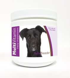 Multi-Vitamin Soft Chews for Dogs 60 Count - Healthy Breeds Multi-Vitamin Soft Chews are a daily nutritional supplement developed with a synergistic blend of vitamins minerals and antioxidants in a great tasting soft chew dogs love! Recommended for dogs of all breeds sizes ages and activity levels plus it is also beneficial for breeding dogs pregnant and lactating females and stud dogs.