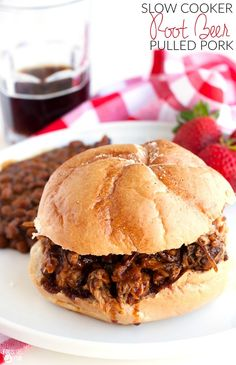 This Slow Cooker Root Beer Pulled Pork recipe is sweet, tangy, and completely…