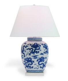 Our beautiful Port 68 Dragon Lamp Navy features a timeless, Asian pattern of hand painted dragons. It's no surprise that this stunning lamp doubles as a work of art. This enchanting lamp is perfect for the traditional or contemporary living room, bedroom or office.