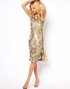 Needle & Thread | Needle & Thread Era Silk Midi Dress at ASOS Reception Dress?