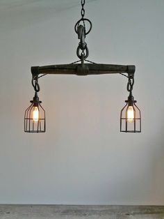 Choices for Industrial Home Lighting – Industrial Decor Magazine Rustic Pendant Lighting, Vintage Industrial Lighting, Industrial Light Fixtures, Industrial Design, Loft Industrial, Antique Lighting, Farmhouse Light Fixtures, Farmhouse Lighting, Industrial Farmhouse