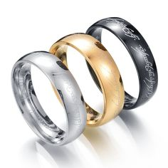 MMS One Ring of Power Gold Silver Black The Lord of Rings Women Finger Wedding Brand Fashion Jewelry Accessory Drop Shipping  #fashion #beauty #beautiful #jewelry #outfit #style #stylish #makeup #outfitoftheday #styles #model #jennifiers #hair #purse #cute