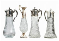 Archive Rentals Silver and Crystal Pitchers