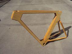 Wooden bike frames... beautiful craftsmanship in motion...