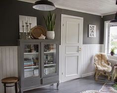 Vintage House Our hallway upstairs Grey Room, Dining Room Inspiration, White Wood, Country Kitchen, Kids Bedroom, Tall Cabinet Storage, Beautiful Homes, Sweet Home, House Ideas