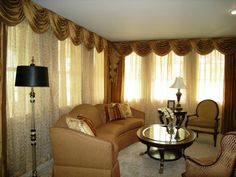 curtain ideas for windows in living room