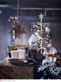 Ikea's New Holiday Collection Will Transform Your Home Into a Winter Wonderland Elegant Christmas Decor, Ikea Christmas, Christmas Design, White Christmas, Christmas Time, Christmas Decorations, Table Decorations, Christmas Ideas, Ikea New