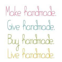 Keep Alive the Handmade  https://www.facebook.com/hilaria.fina