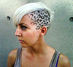 leopard print hair!!!! Love crazy stuff like this, did it once in school, deff wanna be creative like this again