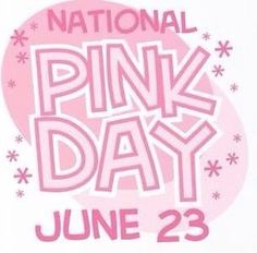 Who knew there was a National Pink Day???  I think that makes it a perfect day to offer a Plexus special!  TODAY ONLY ... order as a new Preferred Customer and receive 1 product of your choice FREE!  Or join as an Ambassador and receive 1 product of your choice FREE AND I will pay your $34.95 membership to join! Today is your day!  www.plexusslim.com/robinmccartney  Ambassador #207217