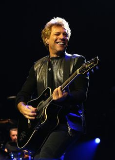 He gives music a good name. Jon Bon Jovi lights up the stage during a performance with Bon Jovi on Dec. 12 in Perth, Australia
