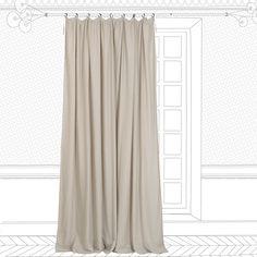 Rideau Sakai, beige / argent, l.140 x H.250 cm | Leroy Merlin | Idée ...