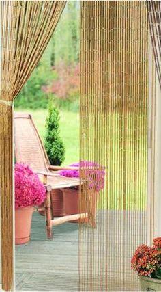Natural Plain Bamboo Beaded Curtain