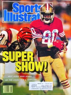 cbc04f02583 Jerry Rice SF 49ers Signed January 30 1989 Sports Illustrated COVER JSA