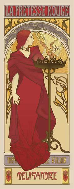 Game-Of-Thrones-Art-Nouveau-Melisandre