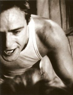 Marlon Brando. Being violent. A Street Car Name Desire. '51.