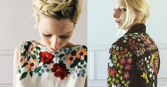 Artist Transforms Clothing with Beautifully Embroidered Flowers - Adventures of Yoo