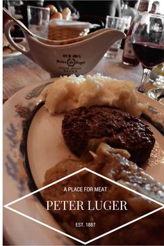 Chopped Steak at Peter Luger - A Place for Meat - Brooklyn, NYC