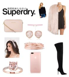 """""""The Cover Up – Jackets by Superdry: Contest Entry"""" by lychavarria on Polyvore featuring Superdry, Sans Souci, MICHAEL Michael Kors, Monica Vinader, 8 Other Reasons and Kendra Scott"""