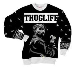 Hip-hop Underground 2PAC Tupac Shakur Thug Life Street Wear Sweatshirt  #Hip-hop #Underground #2PAC #Tupac #Shakur #Thug #Life #Street #Wear #Sweatshirt