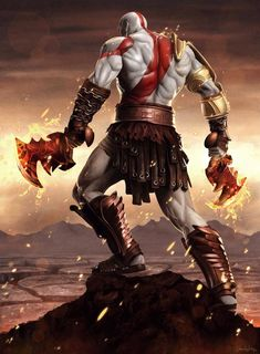 Kratos God Of War, Video Game Art, Video Games, King's Quest, Game Concept Art, Gaming Wallpapers, Greek Gods, Mortal Kombat, Game Character