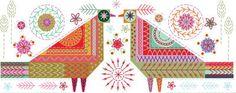 Lovebirds Sew Embroidery Kit - Nancy Nicholson