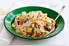 Pick up a BBQ chicken and enjoy this simple pasta dish. Its quick, easy and brimming with flavour!