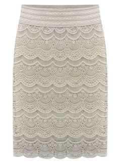 Crochet Lace White Skirt 22.17