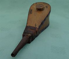 Antique Georgian Wood and Leather Wig Powder Bellows Puffer Rare Late 18th C