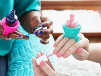 tweexy's nail polish holder, discovered by The Grommet, slides onto your finger to hold your polish. Paint nails at home or on the go, no flat surface required.