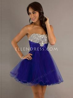 A-line Sweetheart Sleeveless Short/Mini Tulle Cheap Homecoming Dresses/Short Cheap Prom Dress #FD499 - Short Prom Dresses