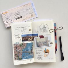 Good morning Friday! ✎ A travel journal allow me to collect moment by using some words, memorial stamp, Polaroid, photos, sketches and even beautiful illustrated maps ✄--- #wenyea_journal