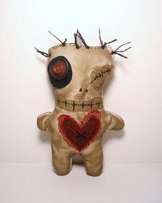 Handmade Voodoo Doll Valentine Voodoo Doll 1 by JunkerJane on Etsy, $25.00