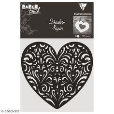 Compra nuestros productos a precios mini Recorte en papel Shadow paper - Corazón negro - 8 unidades - Entrega rápida, gratuita a partir de 89 € !