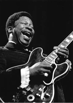 """BB King is known as the """"King of the Blues"""". He was born in Itta Bena, Mississippi and moved to Memphis as a teen playing on Beale Street. He is a part of Tennessee's history and now owns BB King's Blues Club Restaurant on Beale Street. Bb King, Jazz Blues, Blues Music, Eric Clapton, Blues Artists, Music Artists, Jimi Hendrix, Music Icon, My Music"""