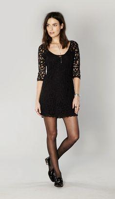 BB Dakota Leigh lace dress in black