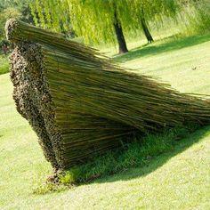 A sculpture by artist Olga Ziemska — with Susan Dainwood.