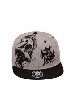 """Hyraw-Snap Back Trucker Cap /""""Skull/"""" black noir"""