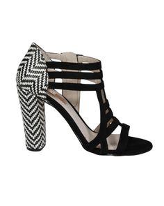 Rosegold Zane Woven Bootie in Black// Love the heel//