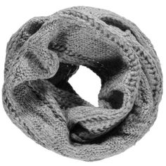 Boohoo Hope Chunky Knit Snood | Boohoo (360 CZK) ❤ liked on Polyvore featuring accessories, scarves, snood scarves, chunky knit scarves and thick knit scarves