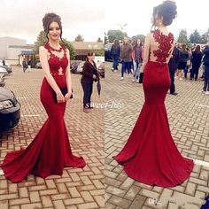 Red Mermaid Prom Dresses Long 2017 See Through Sheer Lace Sleeveless Party Gowns Arabic Dubai Evening Dress Vestido De Festa High Low Prom Dresses Junior Prom Dresses From Sweet Life, $93.4  Dhgate.Com