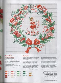 ru / Фото - Creation Point de Croix - na Stylowi. Cross Stitch Borders, Cross Stitch Designs, Cross Stitching, Cross Stitch Embroidery, Cross Stitch Patterns, Cross Stitch Christmas Ornaments, Christmas Cross, Stitches Wow, Stitch Book