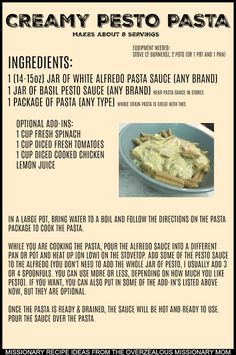 Lds Missionary Recipe Cooking Ideas For Future Elder Sister Missionaries From The Mission Prep With The