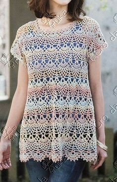 TRI CRO DA TUKA: blusa/crochê