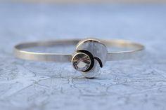 Karl Laine Silver Crystal Rock Bracelet by PrettyDifferentShop
