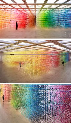 Emmanuelle Moureaux's Forest of Numbers installation is a multi-sensory art experience.