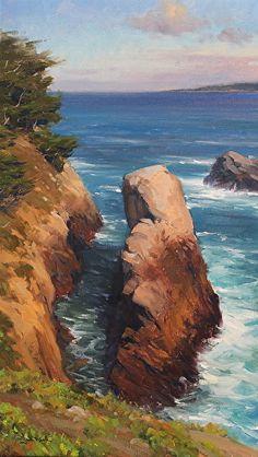 Point Lobos Coastline by Jesse Powell Oil ~ 16 x 20