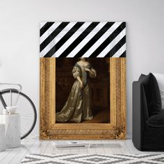 LIMITED EDITION: The Striped Lady Canvas Print