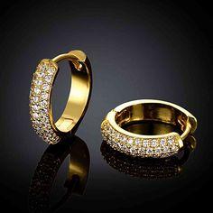 Бесплатная Доставка 2015 Милые женщины ювелирные изделия Золотое Покрытие серьги ювелирные изделия glistem клип orecchini ювелирные изделия SKGE038 купить в магазине Qingtian Jewelry Co.,Ltd на AliExpress
